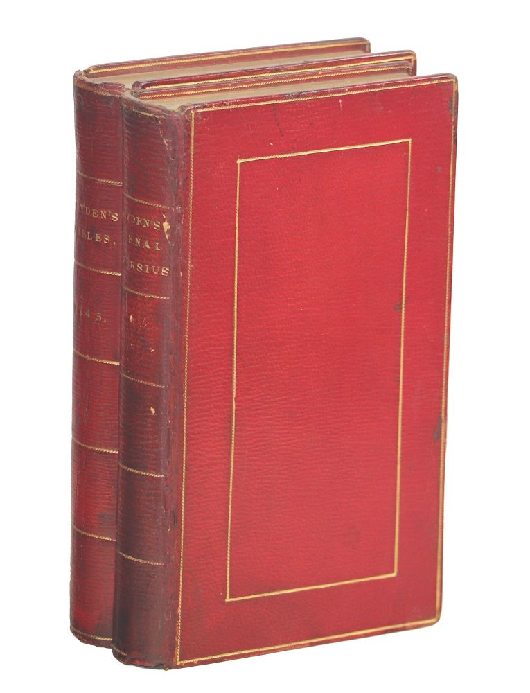The Satyrs of Decimus Junius Juvenalis and of Aulus Persius Flaccus; Fables Ancient and Modern Translated into Verse from Homer, Ovid, Boccace, and Chaucer: With Original Poems; Translated into English Verse by Mr. Dryden and Several Other Eminent Hands;. Persius Juvenal, Ovid Homer, Chaucer, Boccacio.