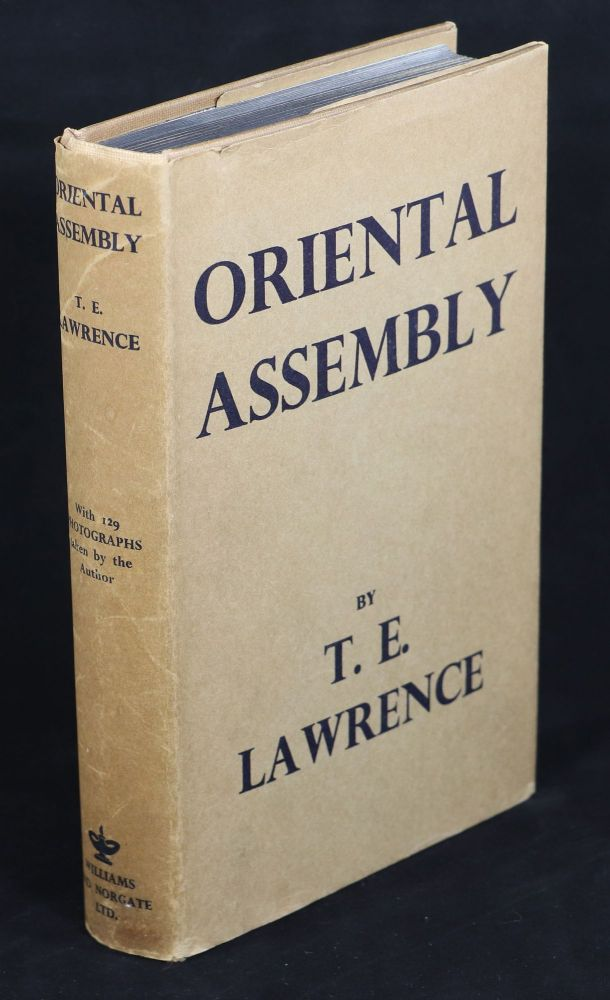 Oriental Assembly; Edited by A. W. Lawrence. T. E. Lawrence.