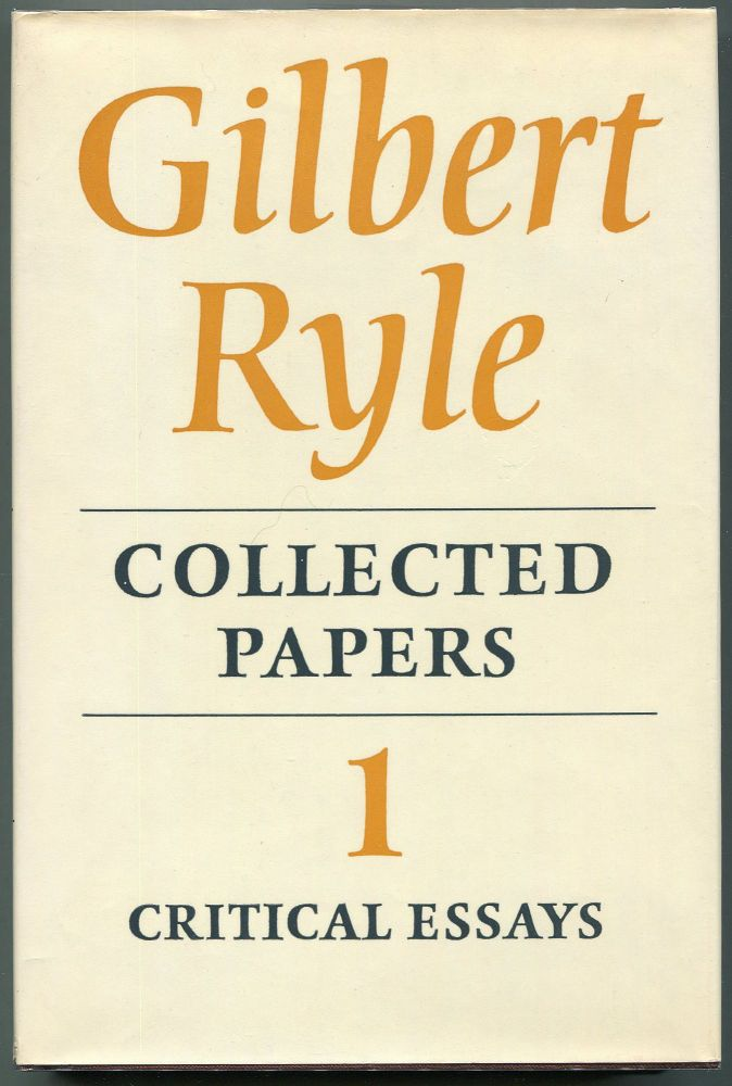 Collected Papers; Volume I Critical Essays; Volume II Collected Essays 1929-1968