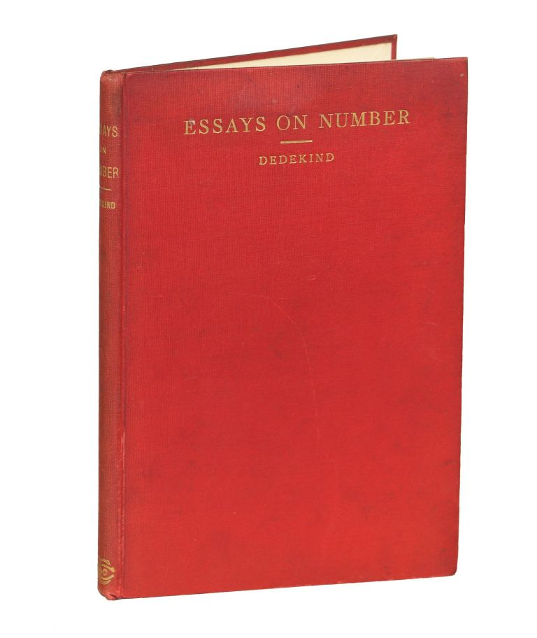Essays on the Theory of Number. Richard Dedekind.