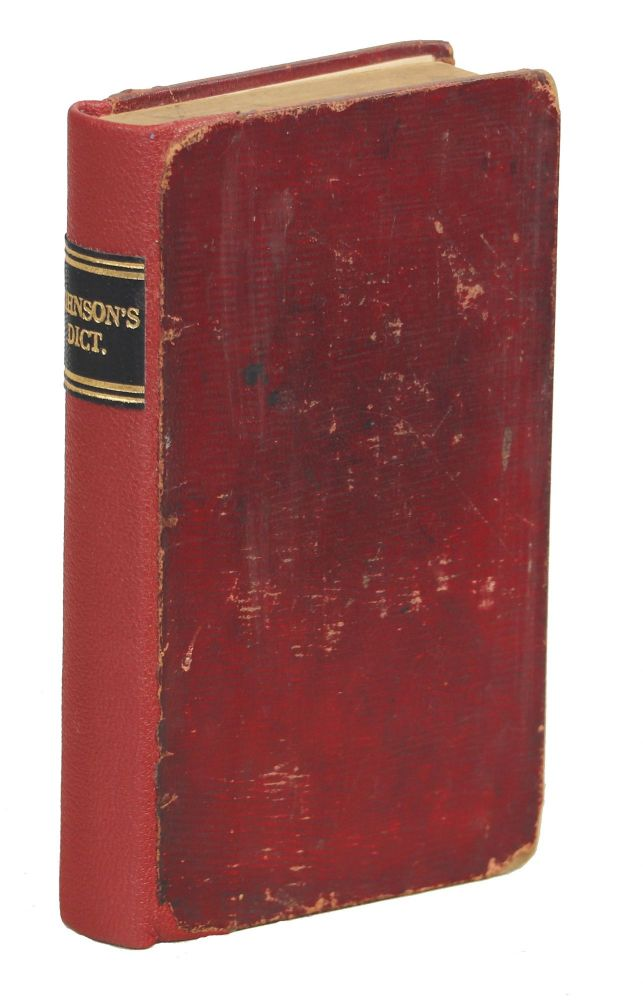 Johnson's Dictionary of the English Language in Miniature; To which are Added, an Alphabetical Account of the Heathen Deities, and a Copious Chronological Table of Remarkable Events, Discoveries and Inventions in Europe. Samuel Johnson, Rev. Joseph Hamilton.