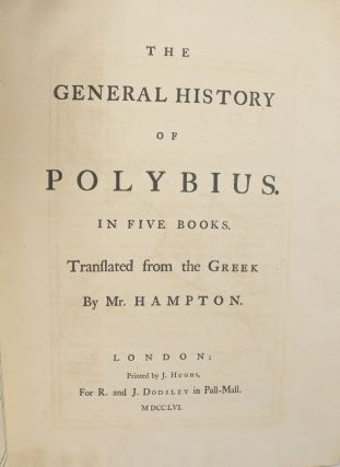 The General History of Polybius in Five Books