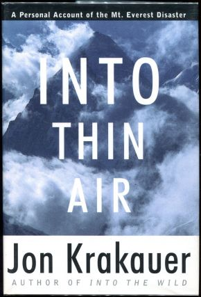 Into Thin Air. Jon Krakauer