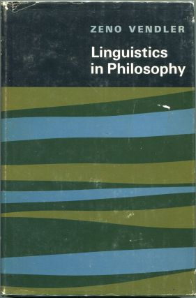 Linguistics in Philosophy. Zeno Vendler