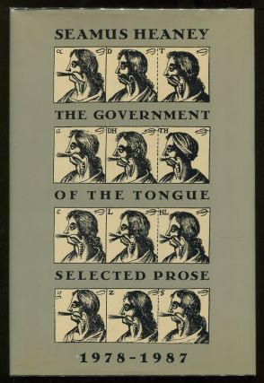 The Government of the Tongue; Selected Prose 1978 - 1987. Seamus Heaney.