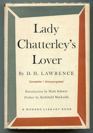Lady Chatterley's Lover. D. H. Lawrence