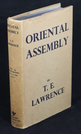 Oriental Assembly; Edited by A. W. Lawrence. T. E. Lawrence