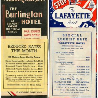 Washington D.C. Hotel Brochures