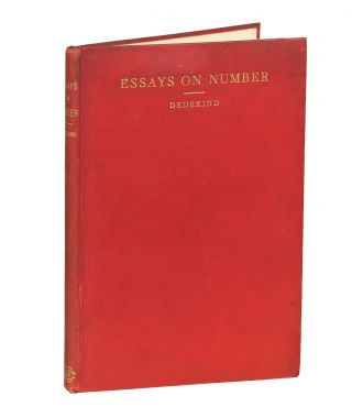 Essays on the Theory of Number. Richard Dedekind