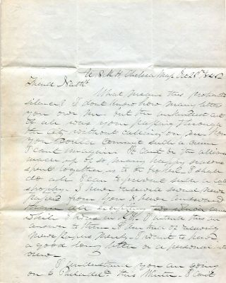 U.S. Marine Hospital Physician's Letter to a Friend. Dr. James Fanning Noyes
