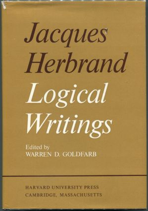 Logical Writings. Jacques Herbrand