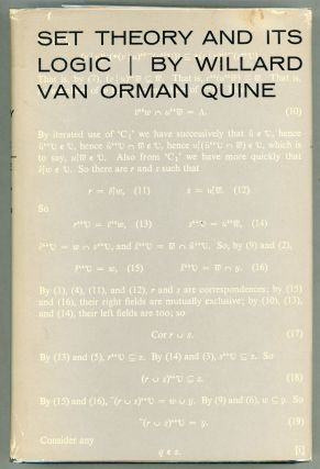Set Theory and Its Logic. Willard Van Orman Quine