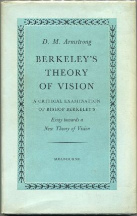 Berkeley's Theory of Vision; A Critical Examination of Bishop Berkeley's Essay Towards a New...