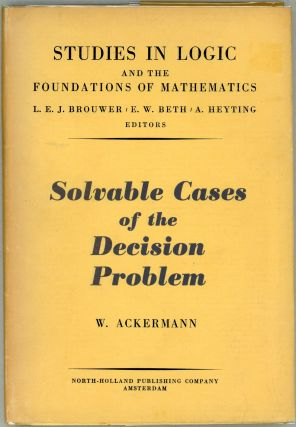 Solvable Cases of the Decision Problem. W. Ackermann, Wilhelm