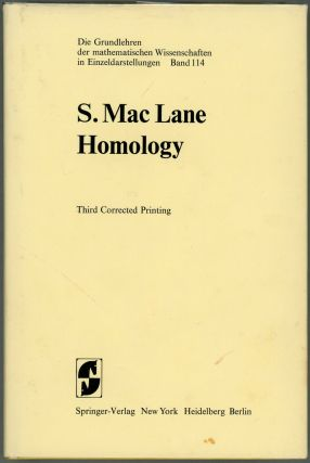 Homology. Saunders Mac Lane