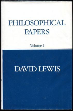 Philosophical Papers: Volume I. David K. Lewis